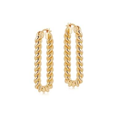 Tidal Ovate Hoop Earrings