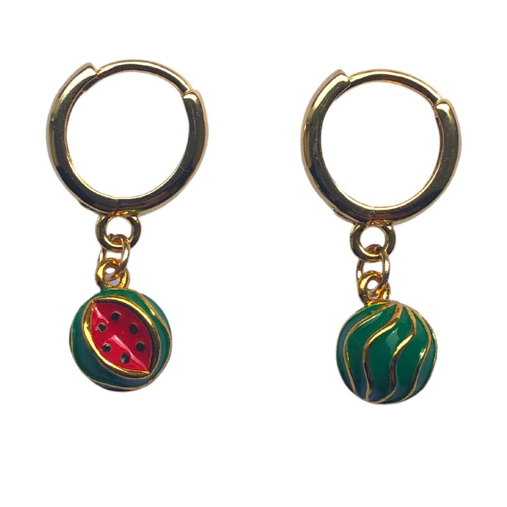 The Sandia Huggie Earrings