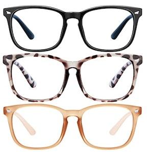 LNEKEI Blue Light-Blocking Glasses (3-Pack)
