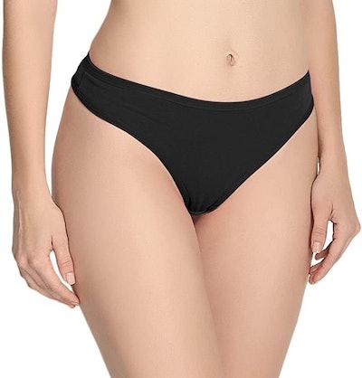 ANZERMIX Women's Breathable Cotton Thong Panties (6-Pack)