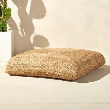 Braided Jute Floor Cushion