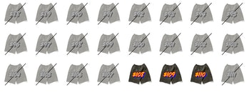 MSCHF At All Costs Sticker Shorts
