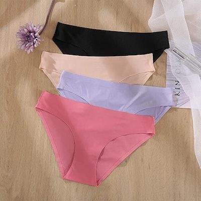 FINETOO Seamless Hipster Underwear (6-Pack)