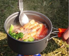 REDCAMP Camping Cookware Mess Kit (12 pieces)