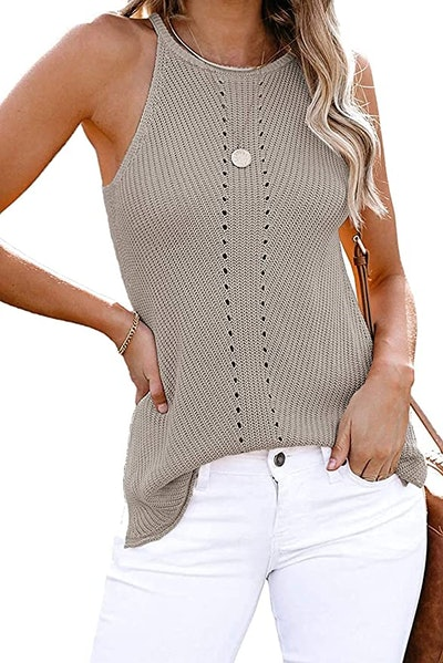 Yidarton Sleeveless Knit Tank Top
