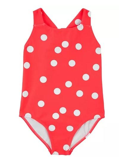 Toddler Girl Carter's Polka Dot 1-Piece Swimsuit