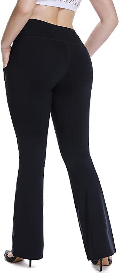 YOHOYOHA Plus Size Flared Yoga Pants