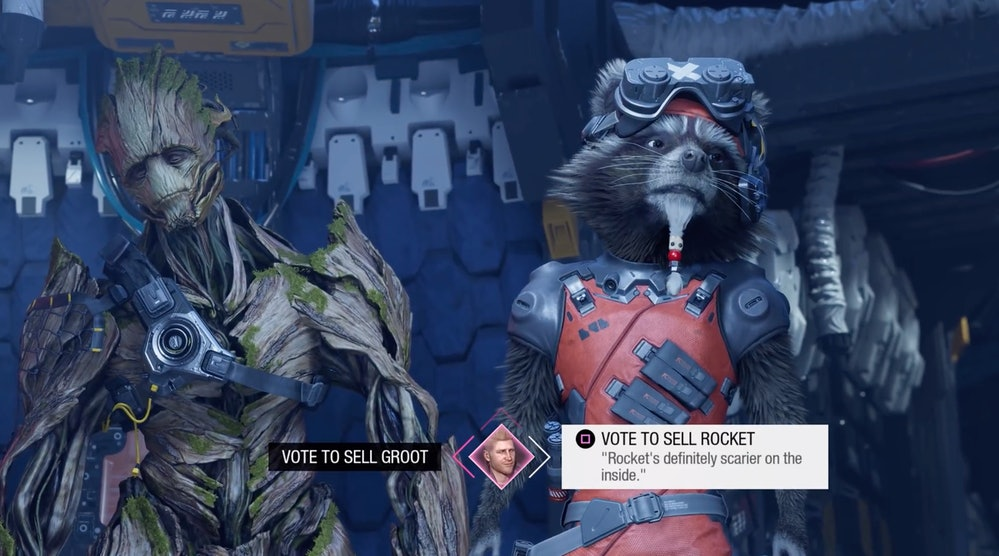 marvels guardians of the galaxy sell rocket