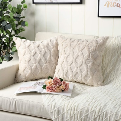 Madizz Decorative Throw Pillow Covers (2 Pack)