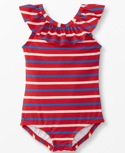 Sunblock One Piece Swim Suit in Cherry Stripes