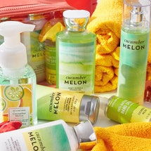 One of the things you can score during Bath & Body Works' Semi-Annual 2021 Sale? All of the brand's cucumber melon products. The scent is one of the classics of the 1990s.