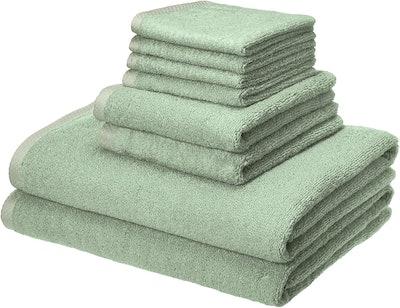 Amazon Basics Quick-Dry Towels (8 Pieces)