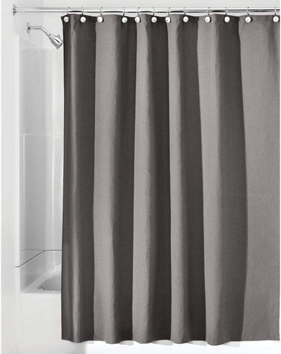 mDesign Washable Fabric Shower Curtain