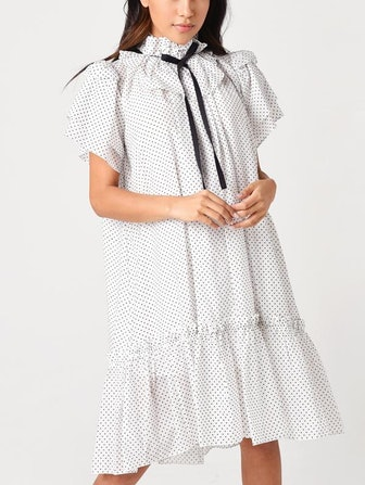 Sheer Ruffle Windsor Dress