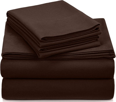 Pinzon Signature Cotton Velvet Flannel Sheet Set (Queen)