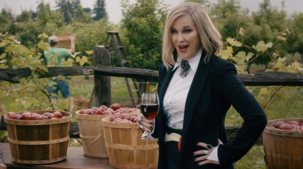 Moira's fruit wine commercial on 'Schitt's Creek' is a fan favorite.