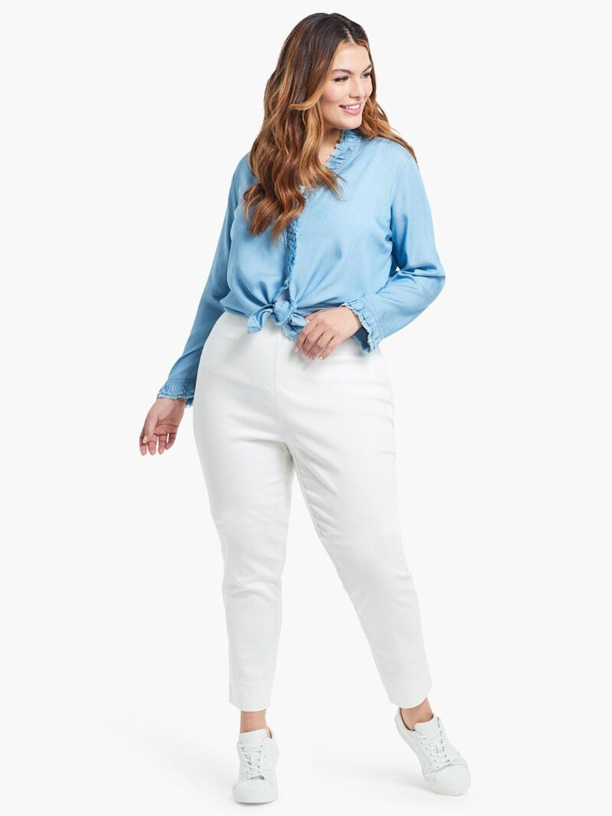 All Day Garment Dye Denim Pant in Paper White