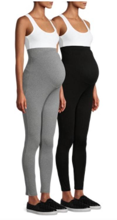 Maternity Leggings with Full Panel, 2 Pack