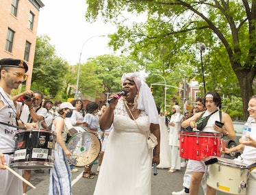 On the ground at Brooklyn Liberation: An Action For Trans Youth on June 13, 2021