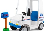 The Kid Trax USPS Mail Delivery Truck is so cute.