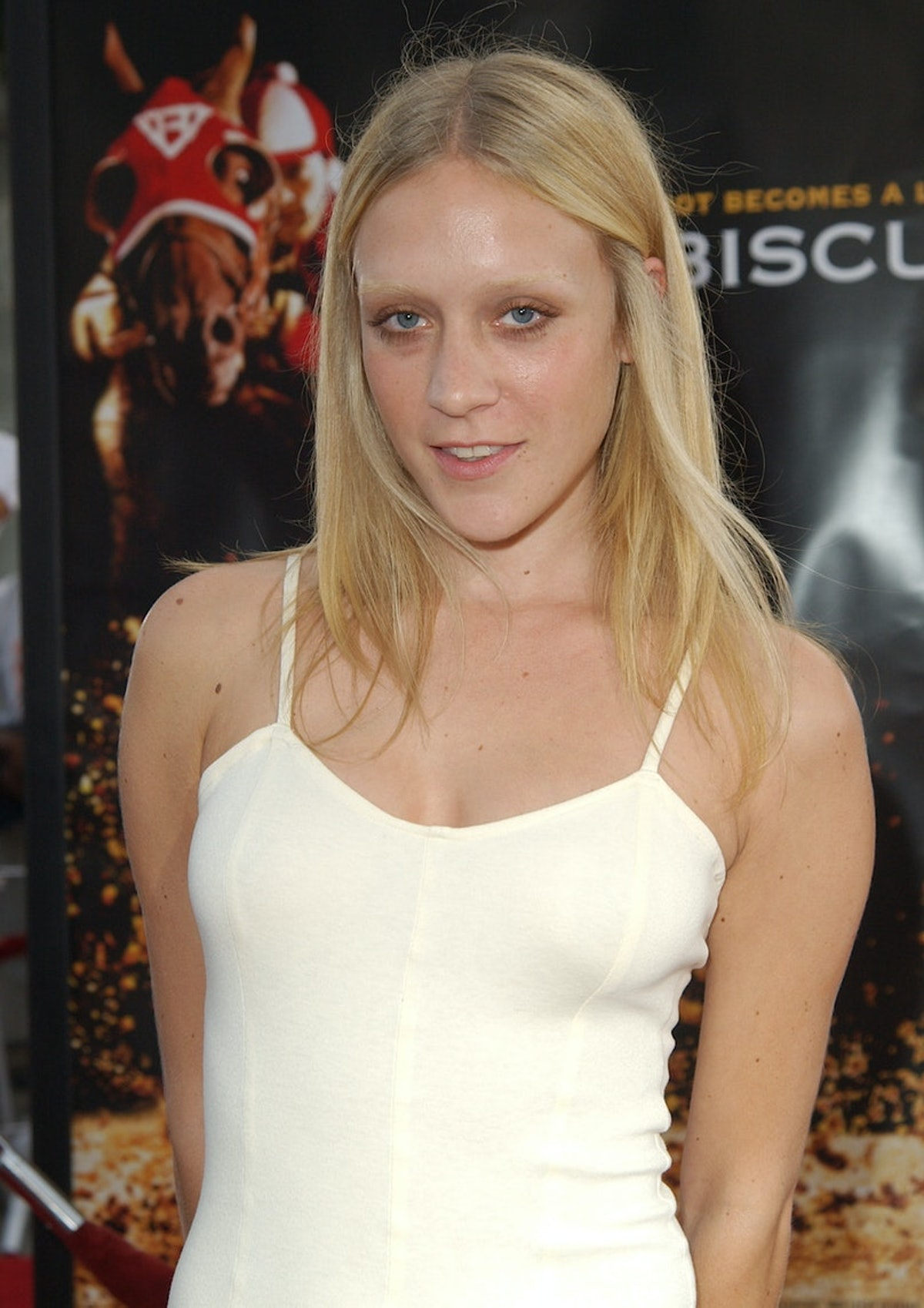 Chloë Sevigny with bleached eyebrows.