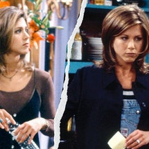 Rachel Green's top '90s looks from 'Friends' — overalls, slip dresses, chokers, and more — are just as popular today. See them all, here.