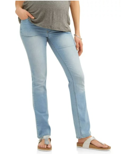Maternity Straight Leg Jeans with Full Panel