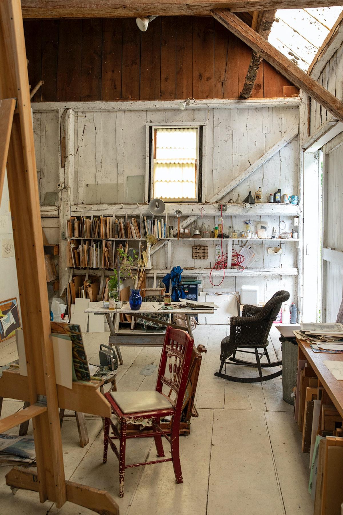 an artist studio