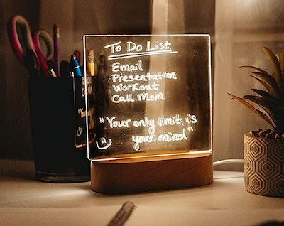 Wellness Panda Acrylic Dry Erase Memo Desk Light