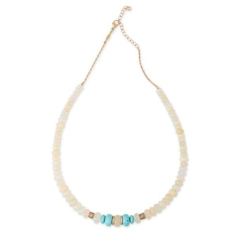 Opal And Turquoise Beaded Necklace