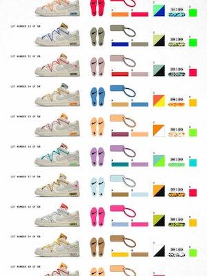 Nike Off-White Virgil Abloh Dunk Low 50