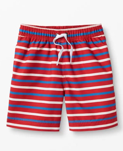 Print Swim Trunks in Cherry Stripe