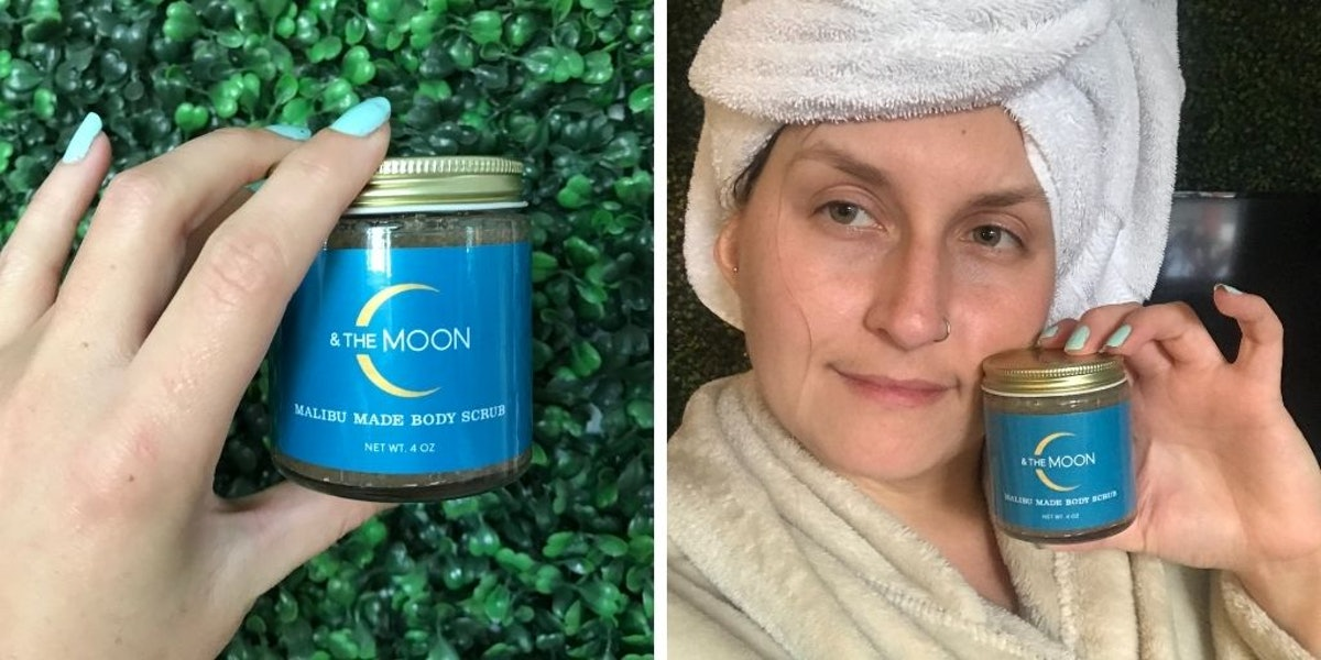 Rachel Varina tries the Malibu Made Body Scrub by C & The Moon for Elite Daily