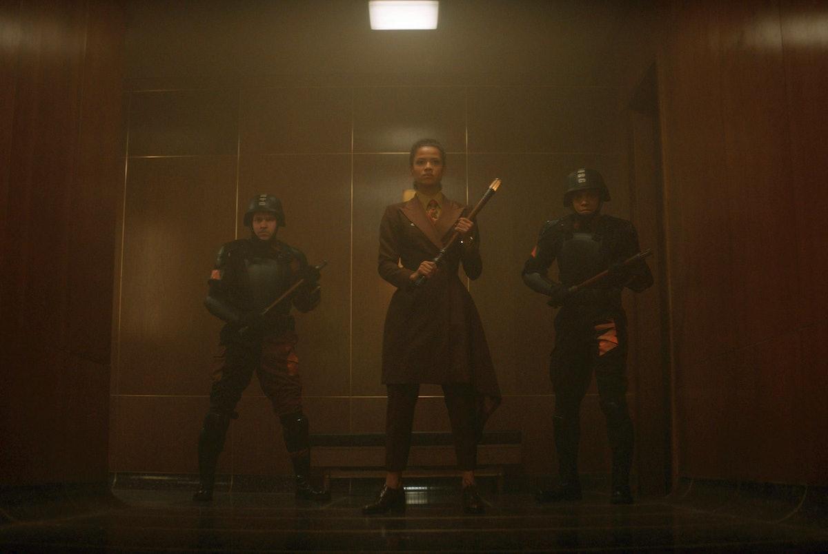 Gugu Mbatha-Raw as Ravonna Renslayer hunting Loki in 'Loki'