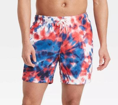 "Men's 7"" Americana Swim Trunks"