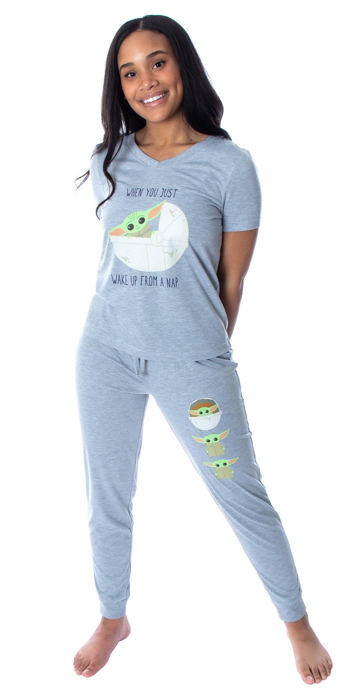 Baby Yoda Wake Up Face Shirt and Jogger