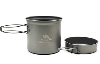 TOAKS Titanium 1,100 ml. Pot With Pan (2 pieces)