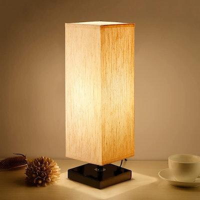 Aooshine Minimalist Solid Wood Table Lamp