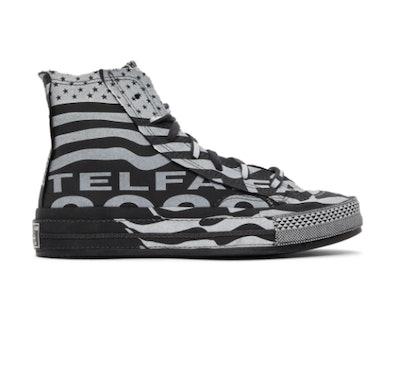 Telfar Black & White Converse Edition Chuck 70 High Sneakers