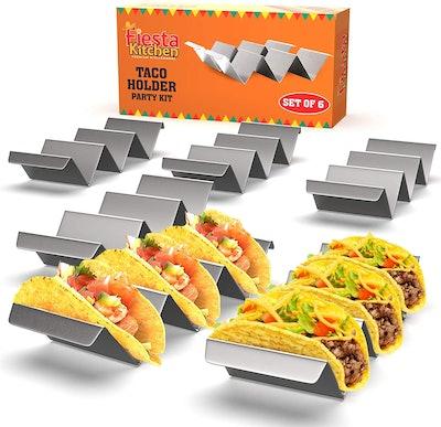 Fiesta Kitchen Taco Trays (Set of 6)
