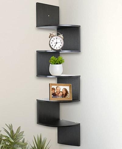 Greenco Wall Mount Corner Shelves