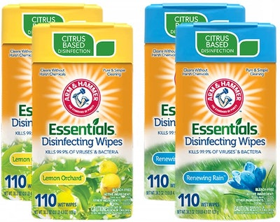 Arm & Hammer Disinfecting Wipes 4-Pack (110 Count, 440 wipes total)