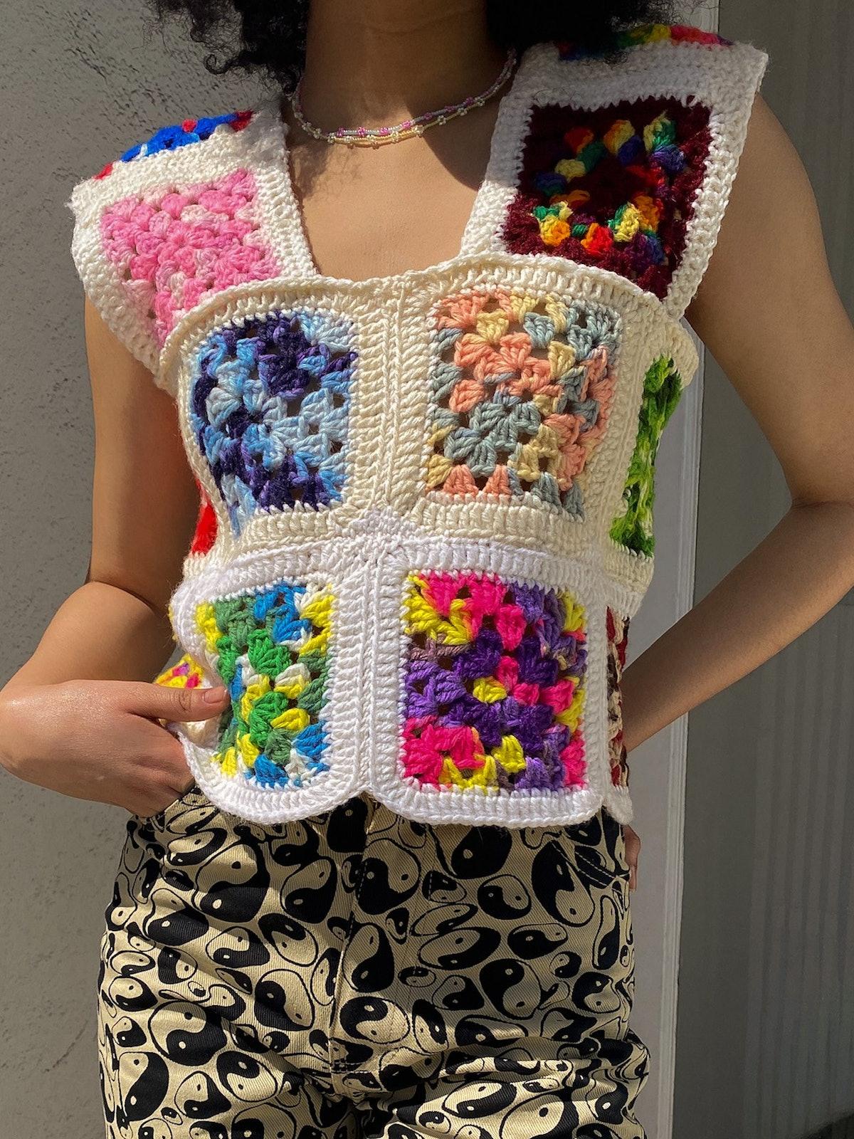 Granny Crochet Tank