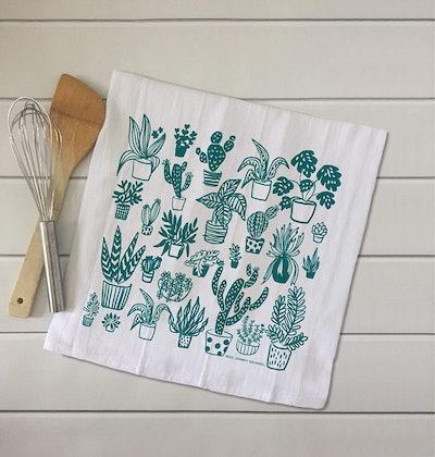 Miss Johnny Squirrel Plant Lover Kitchen Towel
