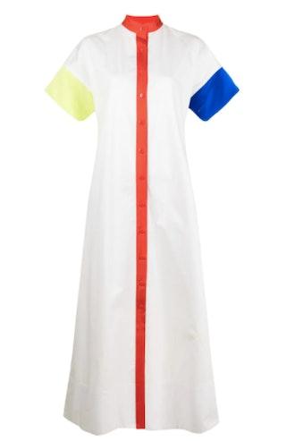 Christopher John Rogers Colour-Block Shirt Dress