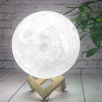 AED 3 Color Moon Lamp with Stand and Remote Control