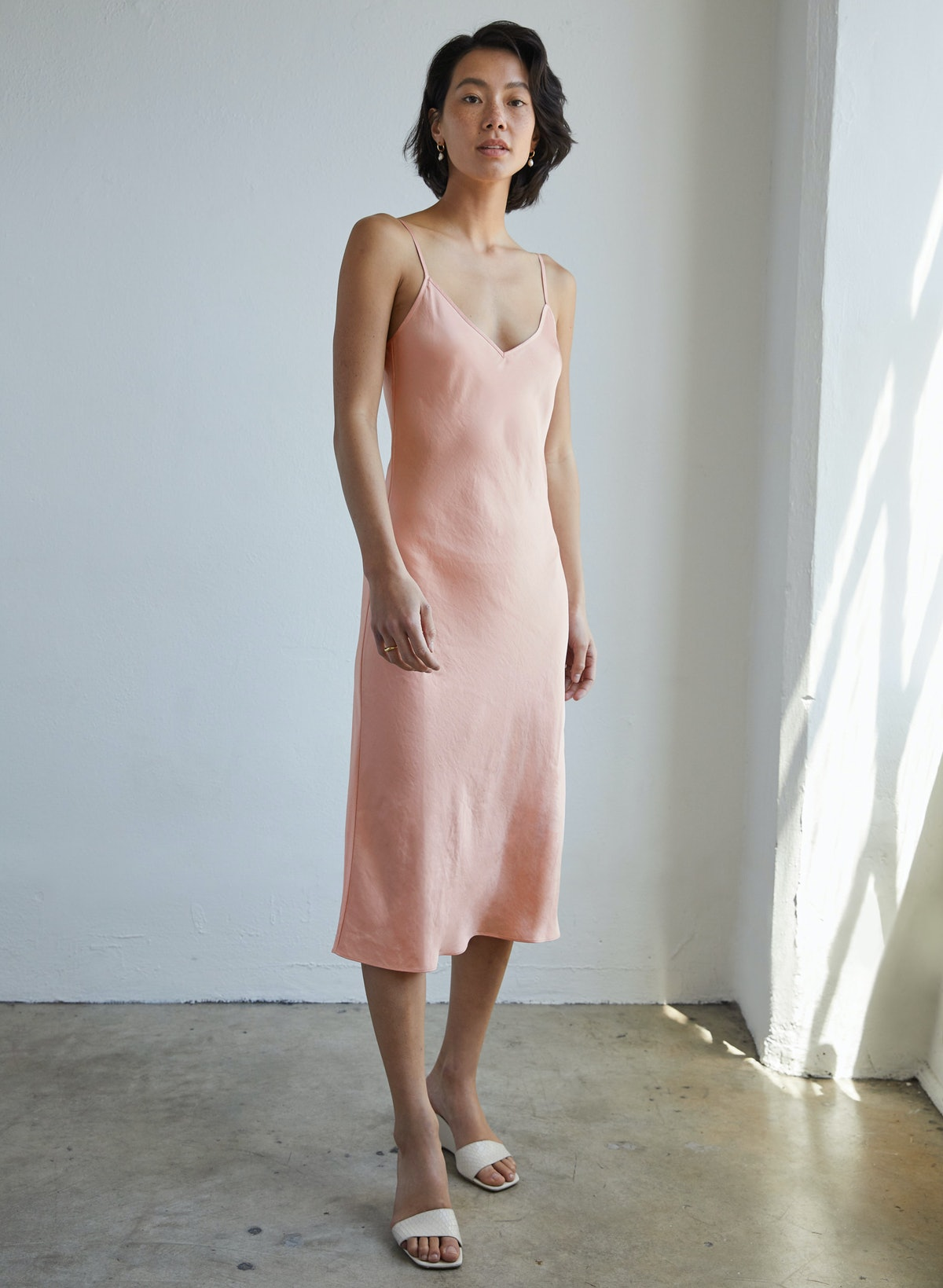 Only Slip Dress in Petal Pink