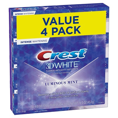 Crest 3D White Toothpaste (4-Pack)