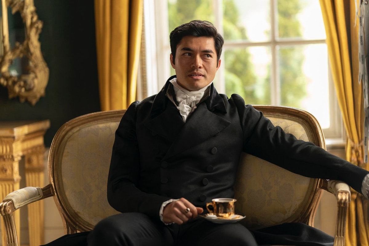 Henry Golding as William Elliot in netflix's new film adaptation of 'Persuasion'