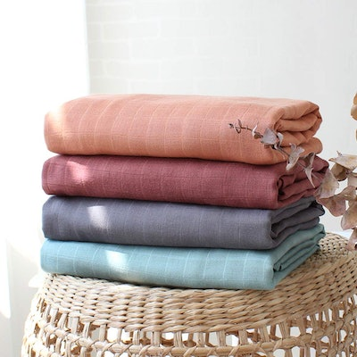 LifeTree 4-Pack Solid Swaddle Blankets